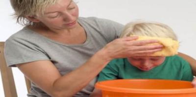ايقاف الاستفراغ عند الاطفال